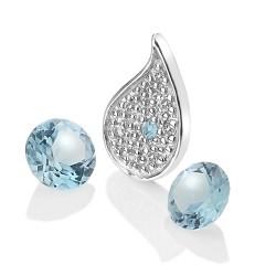 Přívěsek Hot Diamonds Anais element voda modrý Topaz AC102