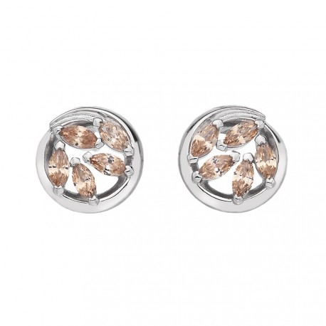 Stříbrné náušnice Hot Diamonds Emozioni Alloro Purity and Loyalty EE027