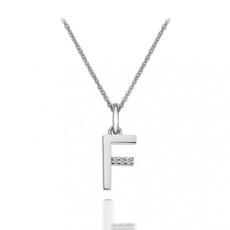 Přívěsek Hot Diamonds Micro F Clasic DP406