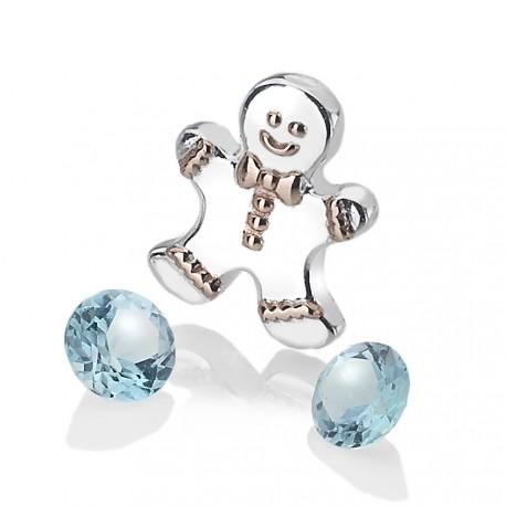 Přívěsek Hot Diamonds Anais element panáček modrý Topaz AC106