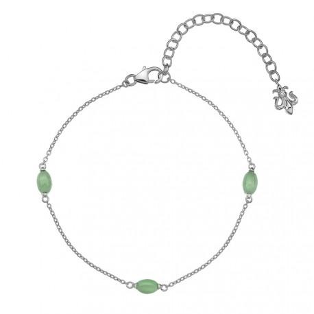 220d9c200 Náramek Hot Diamonds Anais zelený Avanturín AB003 - NAUSNICE.CZ
