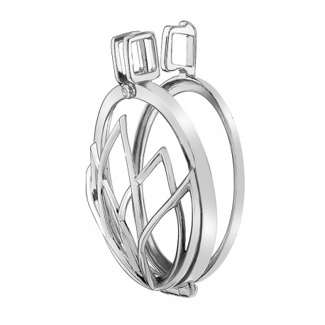 Stříbrný přívěsek Hot Diamonds Emozioni Rinscita Coin Keeper EK036