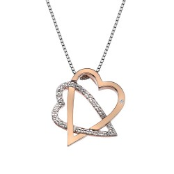 Stříbrný přívěsek Hot Diamonds Adorable Rose Gold DP694