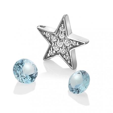 Přívěsek Hot Diamonds Anais element hvězda modrý Topaz AC110