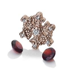 Přívěsek Hot Diamonds Anais element vločka Granat RG AC109
