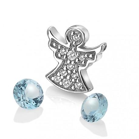 Přívěsek Hot Diamonds Anais element anděl modrý Topaz AC104
