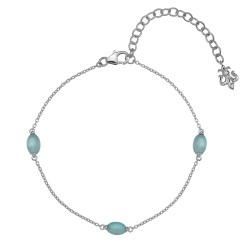 Náramek Hot Diamonds Anais modrý achát AB009