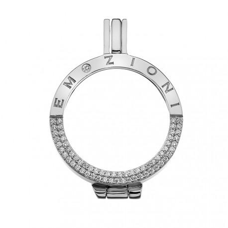 Stříbrný přívěsek Hot Diamonds Emozioni Reflessi Coin Keeper EK043-44