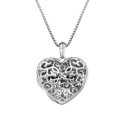 Přívěsek Hot Diamonds Small Heart Filigree Locket DP671