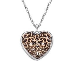 Přívěsek Hot Diamonds Large Heart Filigree Locket RG DP670