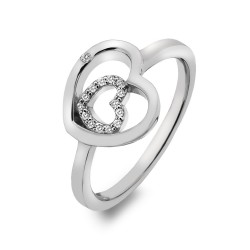 Stříbrný prsten Hot Diamonds Adorable Encased DR201
