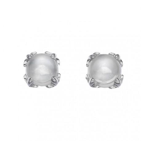 Stříbrné náušnice Hot Diamonds Anais měsíční kámen AE006