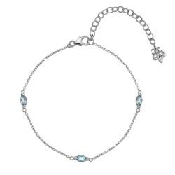 Náramek Hot Diamonds Anais modrý Topaz AB012