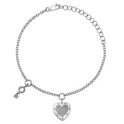 Stříbrný náramek Hot Diamonds Love DL561