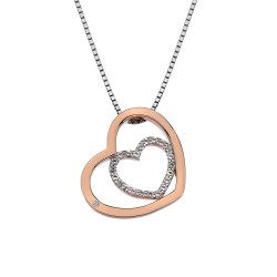 Stříbrný přívěsek Hot Diamonds Adorable Encased Rose Gold DP692