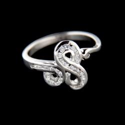 Stříbrný prsten R444