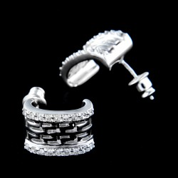 Stříbrné náušnice E293
