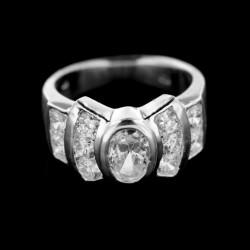 Stříbrný prsten R346
