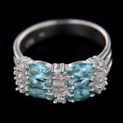 Stříbrný prsten R165 AQ