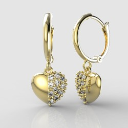 Dětské zlaté náušnice BeKid - 865 srdíčko - srdce 1340 (žluté zlato Au585)