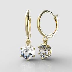 Dětské zlaté náušnice BeKid - 1295 crystal XL - kruhy 1340 (žluté zlato Au585)