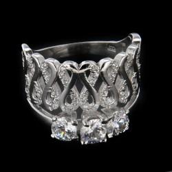 Stříbrný prsten R1183