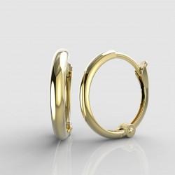 Dětské zlaté náušnice BeKid - 1340 kruhy jednoduché (žluté zlato Au585)