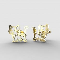 Dětské zlaté náušnice BeKid - 1184 kočička (žluté zlato Au585)