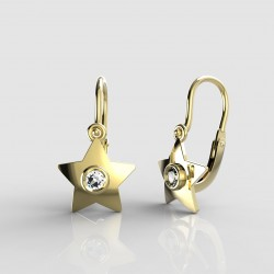Dětské zlaté náušnice pro miminka BeKid - 1273 hvězdička (žluté zlato Au585)