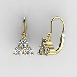 Dětské zlaté náušnice s diamanty BeKid M - 773 (žluté zlato)