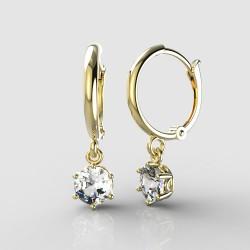 Dětské zlaté náušnice BeKid - 1294 crystal L - kruhy 1340 (žluté zlato Au585)