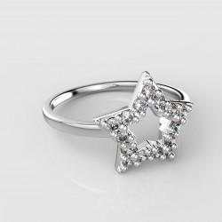 Dětský zlatý prstýnek BeKid - 826 (bílé zlato Au585)