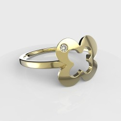 Dětský zlatý prstýnek BeKid - 849 (žluté zlato Au585)