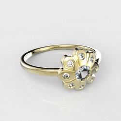 Dětský zlatý prstýnek BeKid - 838 (žluté zlato Au585)