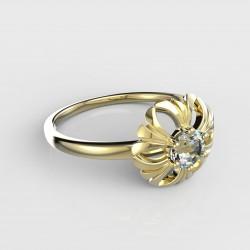 Dětský zlatý prstýnek BeKid - 607 (žluté zlato Au585)