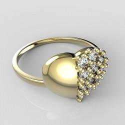 Dětský zlatý prstýnek BeKid - 865 (žluté zlato Au585)