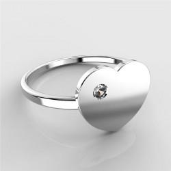 Dětský zlatý prstýnek BeKid - 847 (bílé zlato Au585)