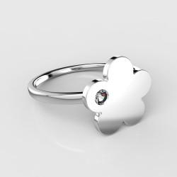 Dětský zlatý prstýnek BeKid - 852 (bílé zlato Au585)