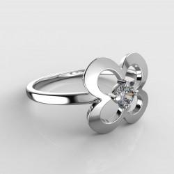 Dětský zlatý prstýnek BeKid - 829 (bílé zlato Au585)