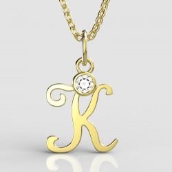 Dětský zlatý přívěsek BeKid (písmenko K) - 1320 (žluté zlato Au585)