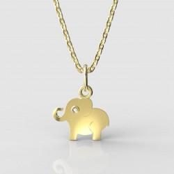 Dětský zlatý přívěsek BeKid - 1282 slon (žluté zlato Au585)