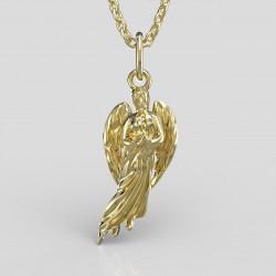 Dětský zlatý přívěsek BeKid - Anděl velký 1174 (žluté zlato Au585)
