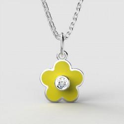 Dětský zlatý přívěsek BeKid - 1277 květina - žlutý