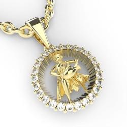 Dětský zlatý přívěsek BeKid (Vodnář) - 45B (žluté zlato Au585)