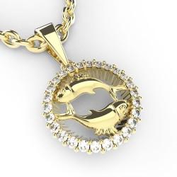 Dětský zlatý přívěsek BeKid (Ryby) - 45C (žluté zlato Au585)