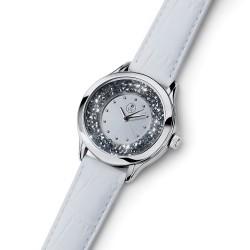 Dámské náramkové hodinky Oliver Weber Rocks Steel - 65058 (leatherstrap white)