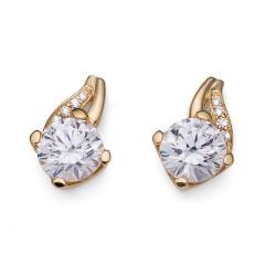 Stříbrné náušnice Oliver Weber Success - 62082 - Ag925 (gold CZ crystal)