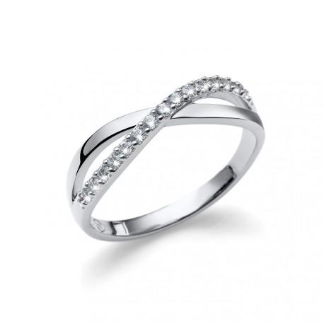 Stříbrný prsten Oliver Weber Opt - 63234 (crystal)
