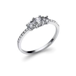 Stříbrný prsten Oliver Weber Opt - 63233 (crystal)