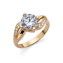 Stříbrný prsten Oliver Weber Success - 63232 (gold CZ crystal)